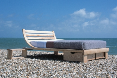 bed on the beach
