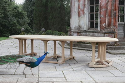 intricate table with peacock